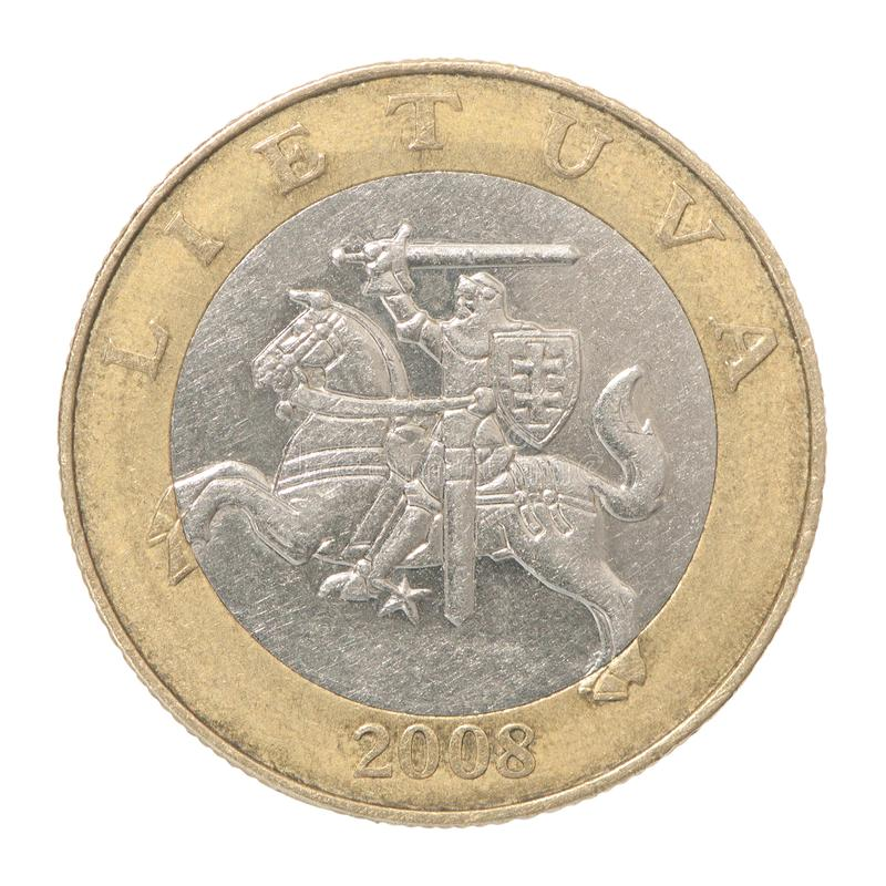Coin Lithuania litas stock images