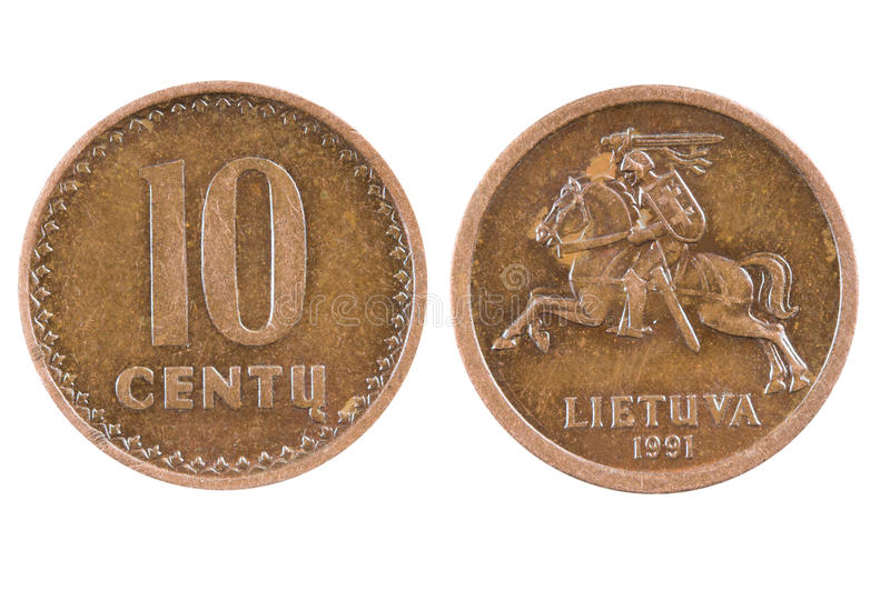Coin of Lithuania stock photography