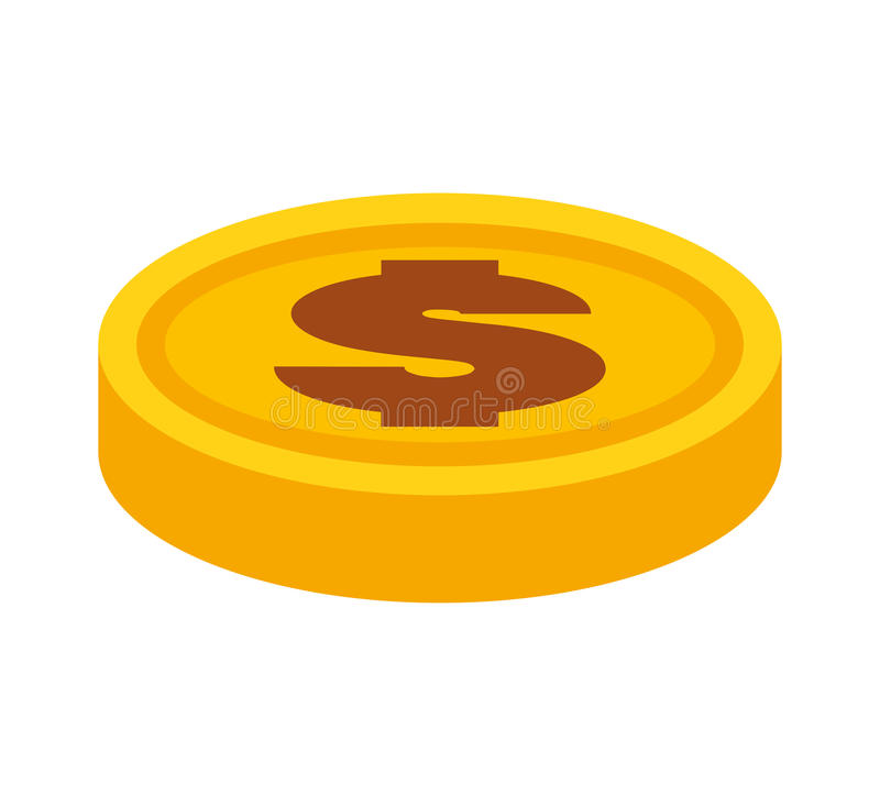 Coin money isolated icon. Vector illustration design royalty free illustration