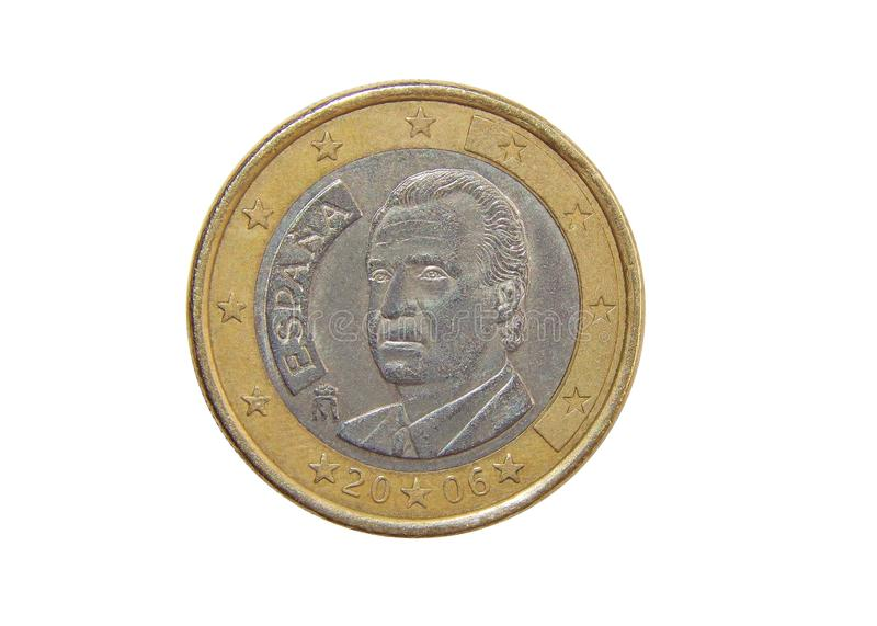 Coin one euro spain stock photography