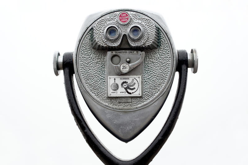 Coin operated binoculars stock photos