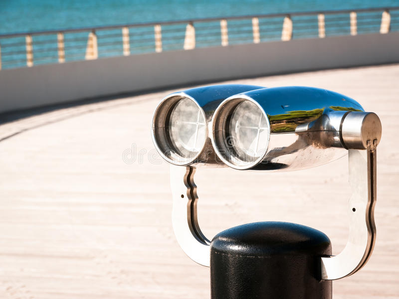 Download Coin operated binoculars stock image. Image of side, sparse - 28408619
