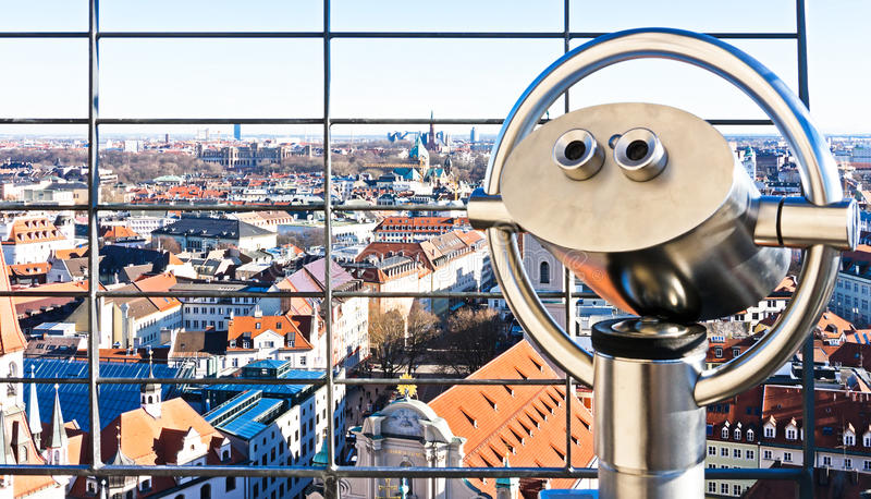 Download Coin operated binoculars stock image. Image of operated - 29269783