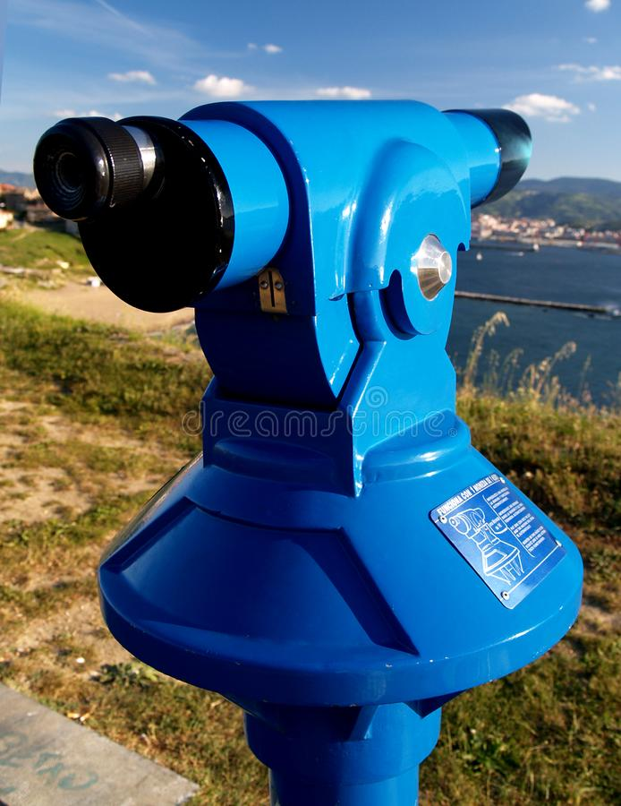 Download Coin Operated Blue Telescope Stock Photo - Image: 2417396
