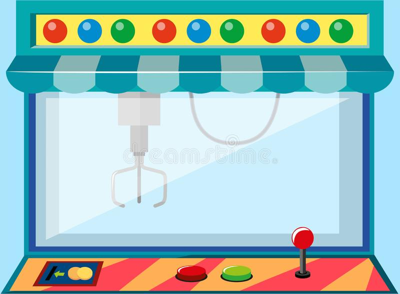A coin operated game machine vector illustration