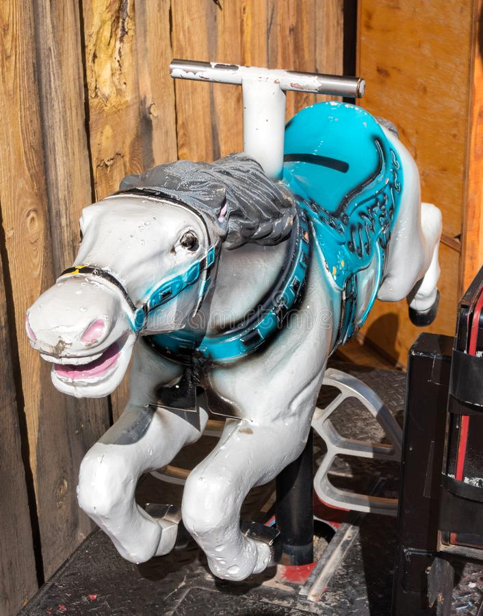 Coin operated horse for kids royalty free stock photos