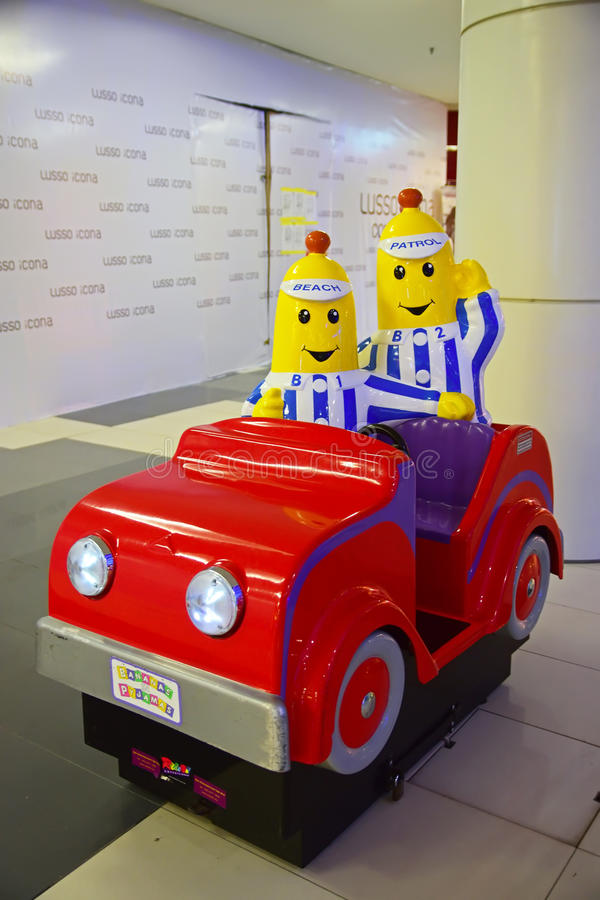 Coin operated kids' rides in shopping mall royalty free stock photos
