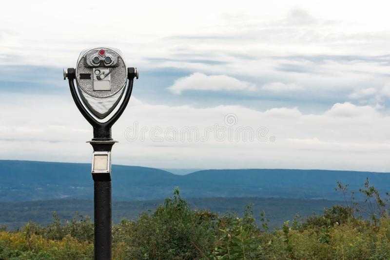 Coin operated viewfinder in park royalty free stock photo
