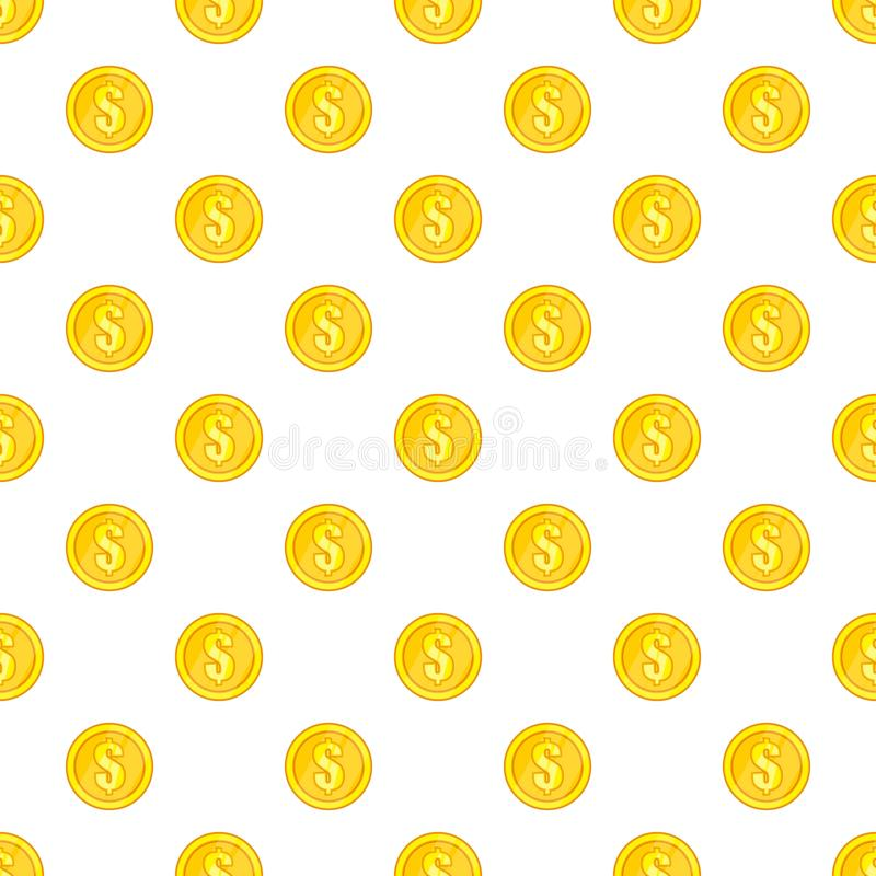 Coin pattern, cartoon style. Coin pattern. Cartoon illustration of coin vector pattern for web stock illustration