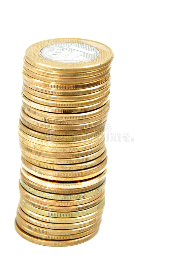 Coin pile. royalty free stock images