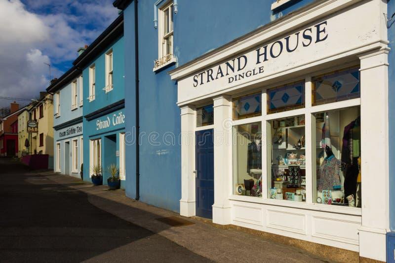 Coin pittoresque Rue de brin vallon l'irlande image stock