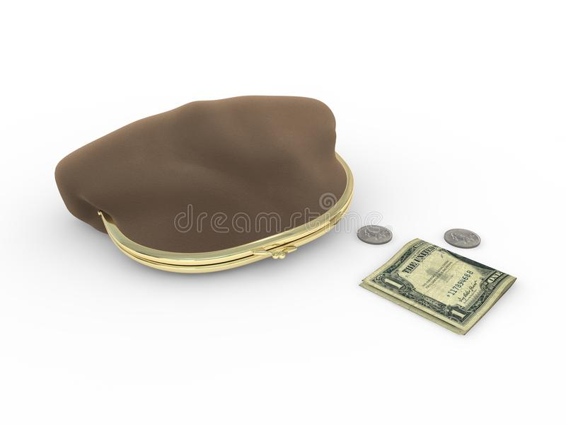 Download Coin purse and money stock illustration. Image of money - 11991544