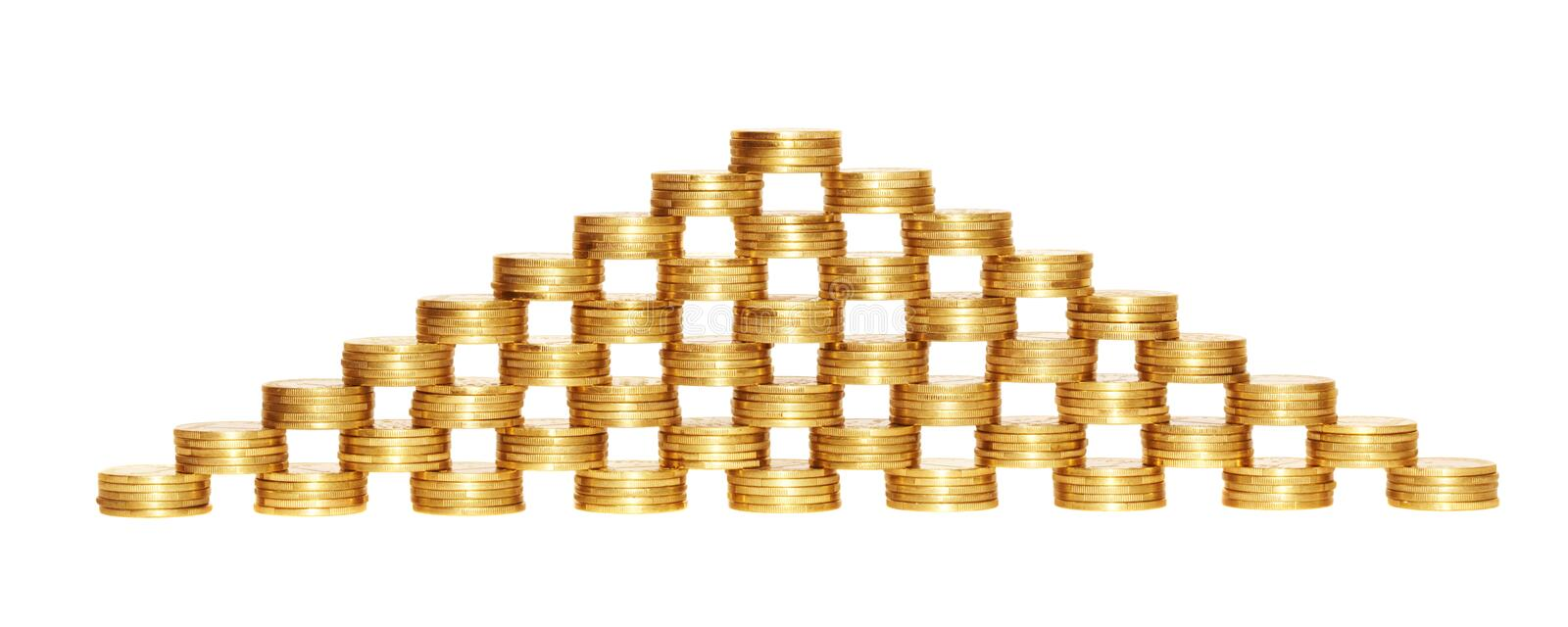 Download Coin Pyramid. Royalty Free Stock Photography - Image: 8725627