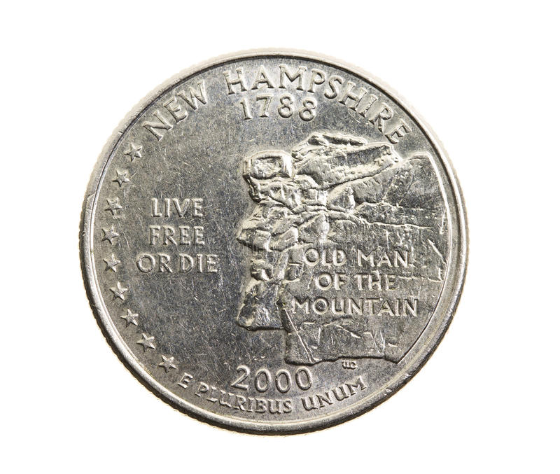 Coin in a quarter of the US dollar royalty free stock photography