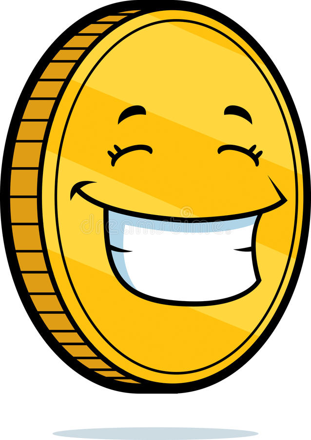 Coin Smiling stock illustration