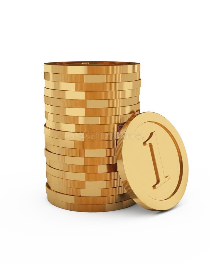 Download Coin stack stock illustration. Illustration of bank, gold - 23156492