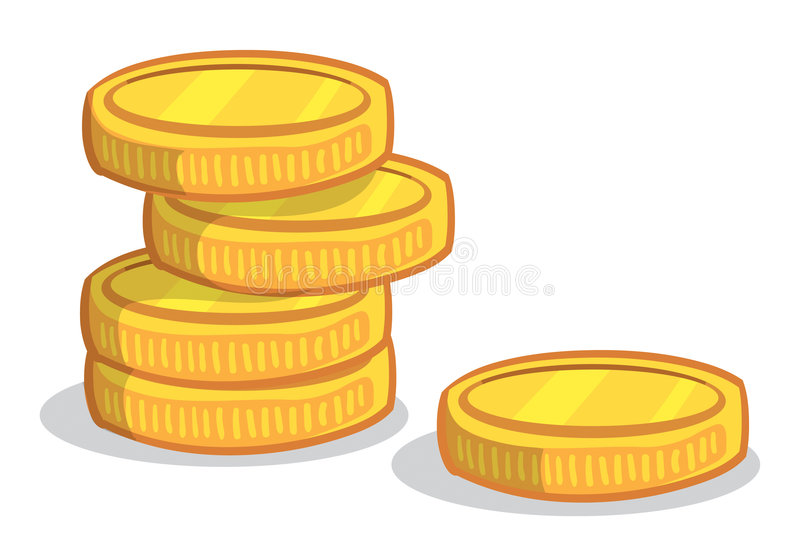 Coin Stack stock illustration. Illustration of taxes, cost ...