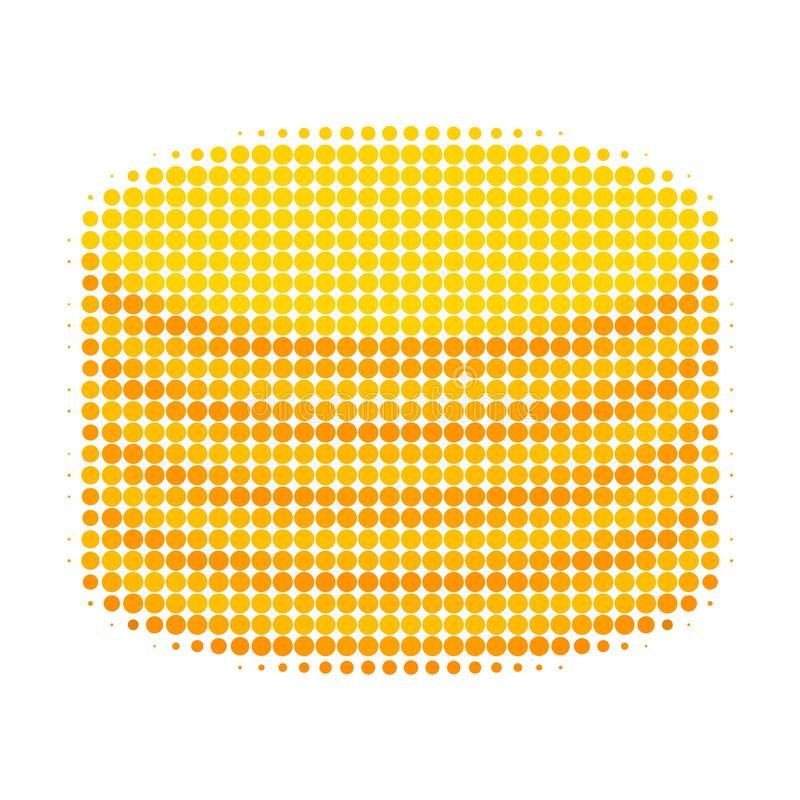 Coin Stack Halftone Dotted Icon royalty free illustration