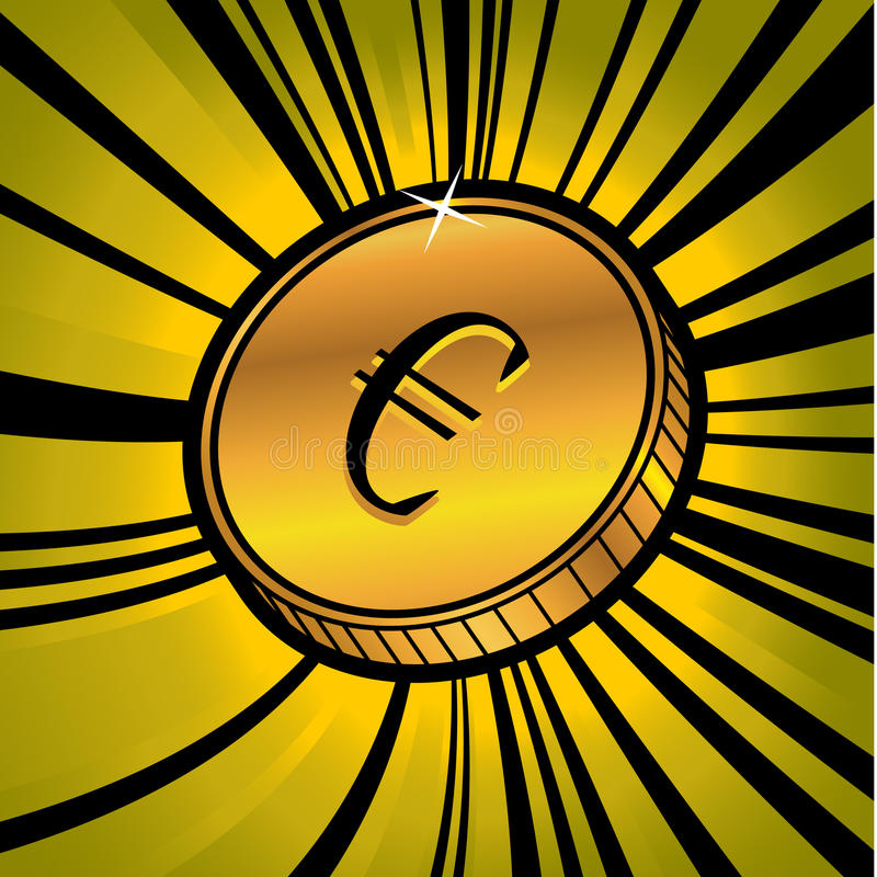 Download Coin With Symbol Of Euro Currency Stock Vector - Image: 20522184