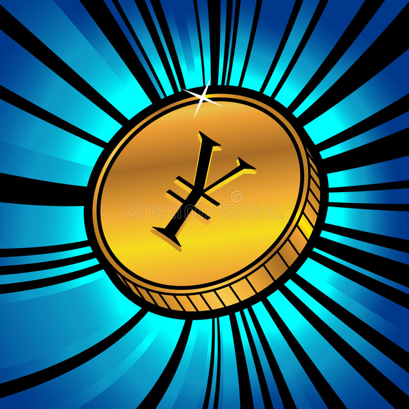 Download Coin With Symbol Of Yen Currency Stock Vector - Image: 20522180