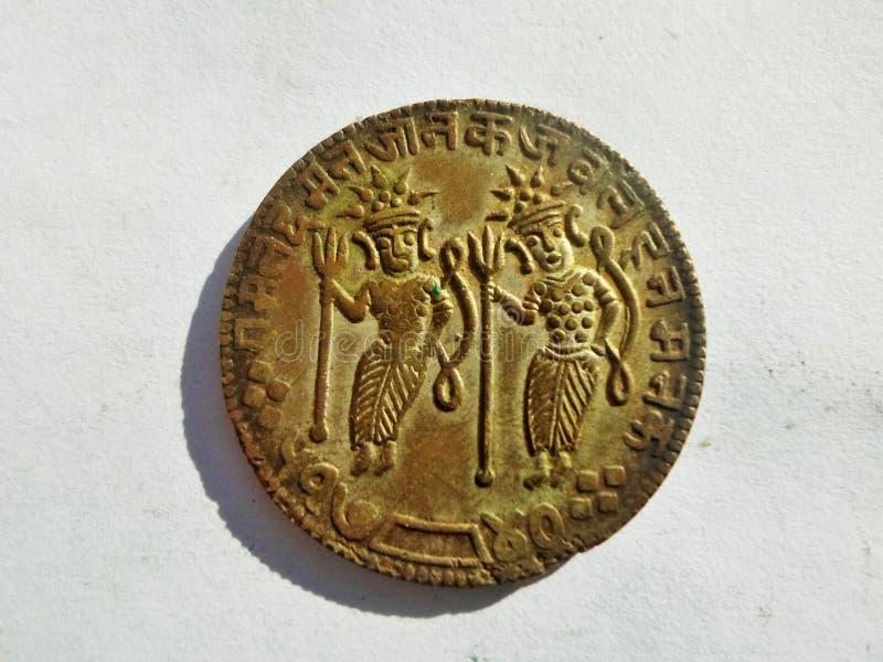 Old Rare Ram Darbar Token stock images