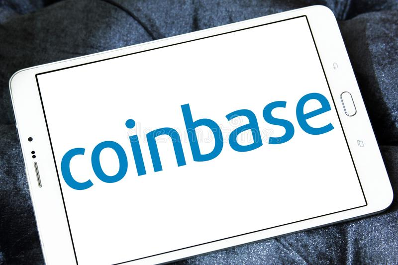 Coinbase logo arkivbilder
