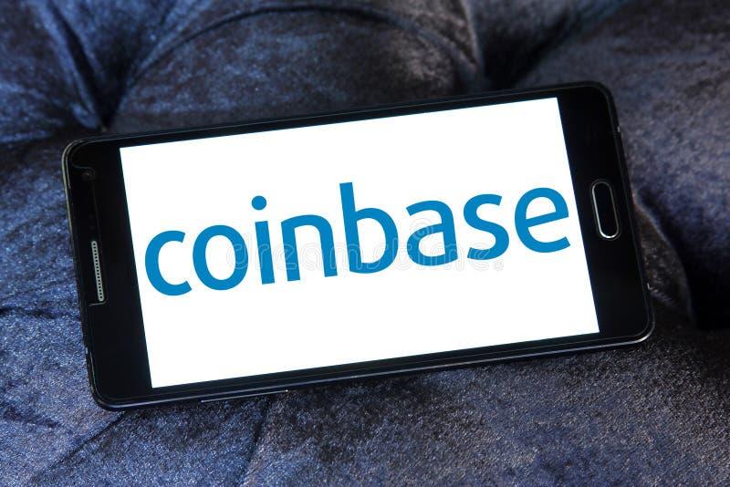 Coinbase logo arkivfoto