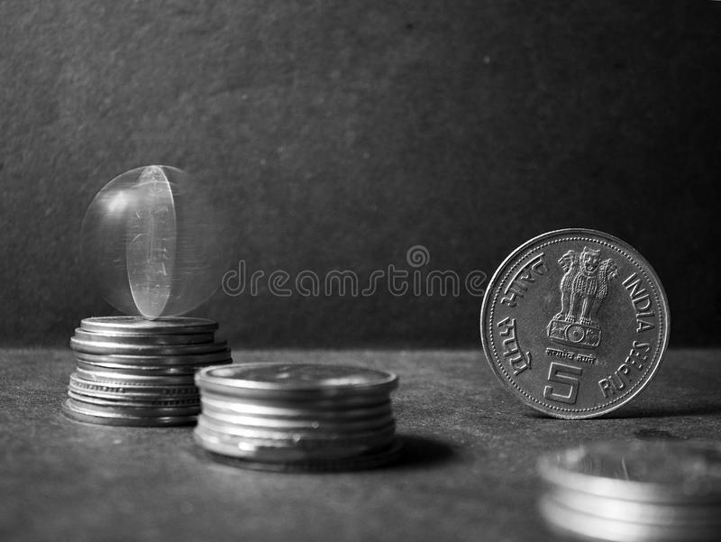 Coins stock photography