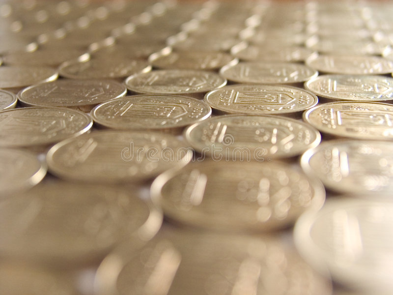 Coins 12. Mosaic of coins (perspective royalty free stock photography