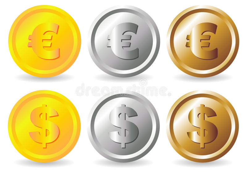 Download Coins stock vector. Illustration of money, dollar, bronze - 12044637