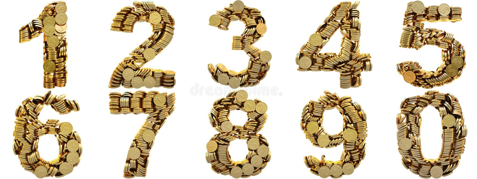 Download Coins stock illustration. Image of alphabet, drop, magnet - 12694307