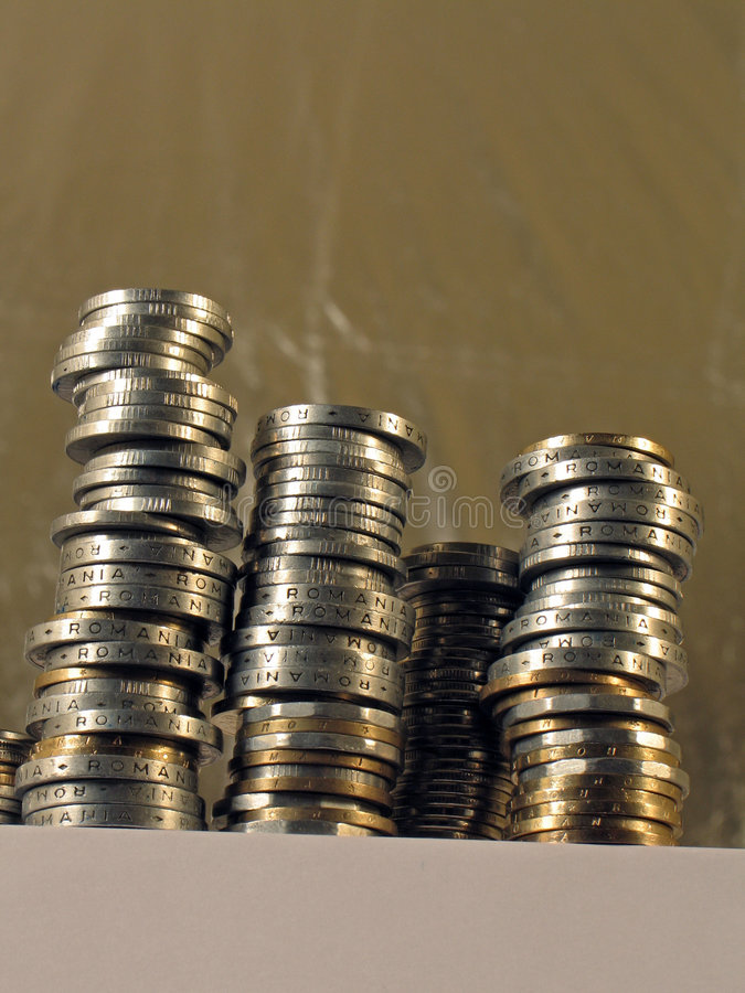 Download Coins stock photo. Image of blur, fine, pile, yellow, rich - 9004178