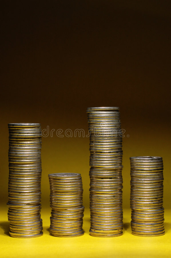 Free Coins Bar Chart Stock Photography - 3230212