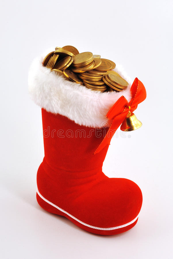 Download Coins In The Boots Royalty Free Stock Images - Image: 13468839