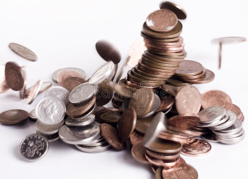 Download Coins Collapse stock image. Image of currancy, five, bank - 13583505