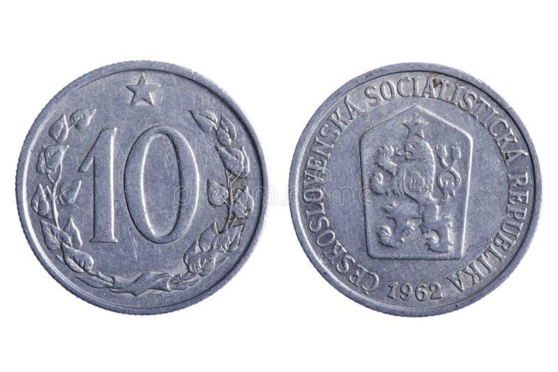 coins den czechoslovakia makroen royaltyfria foton