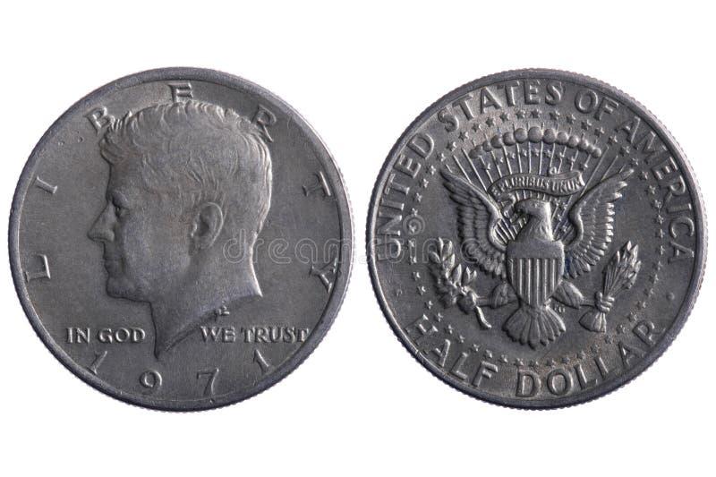 coins den half dollaren royaltyfri bild