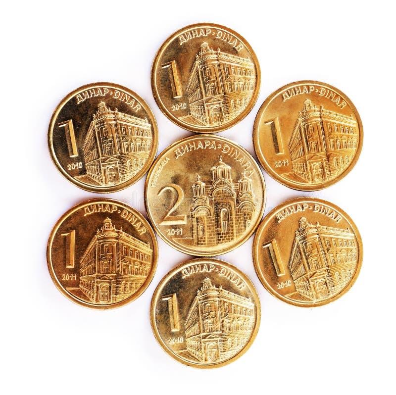coins dinarserb arkivbilder