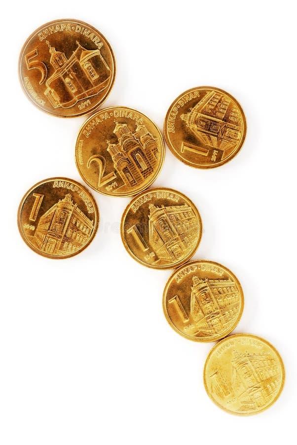 coins dinarserb arkivfoton