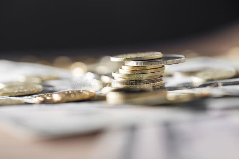 coins dollar royaltyfri foto