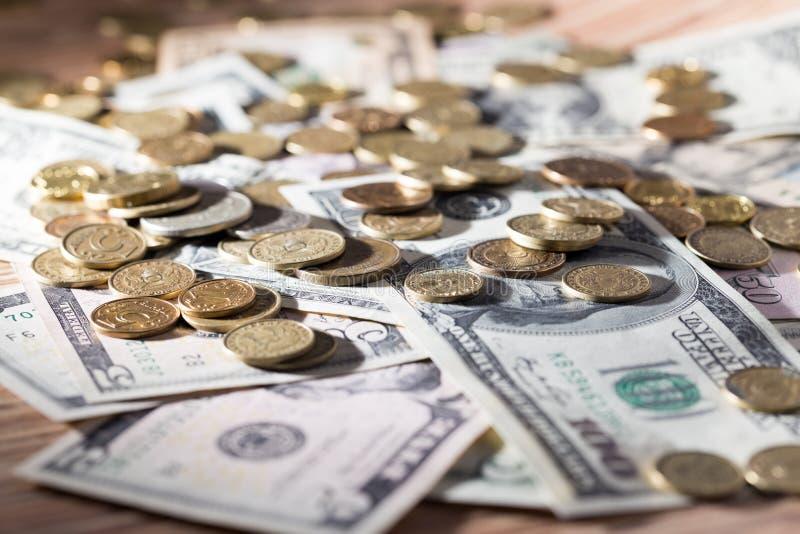 coins dollar fotografering för bildbyråer