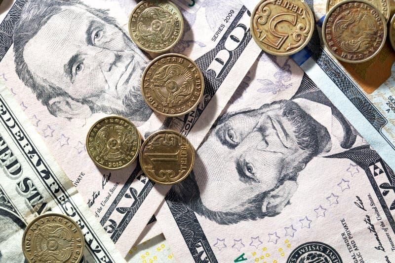 coins dollar royaltyfri fotografi