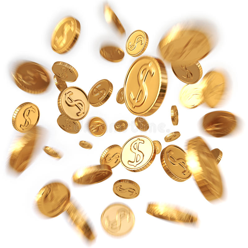 coins dollareuroguld stock illustrationer