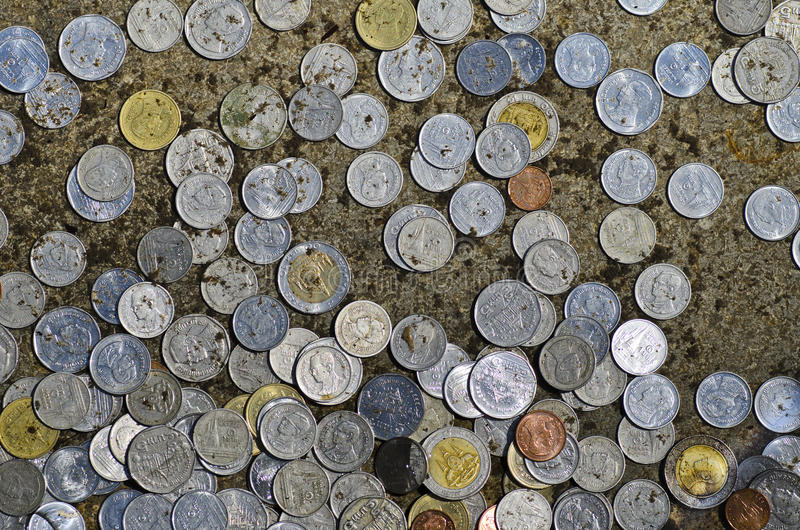 Coins Donation royalty free stock photo