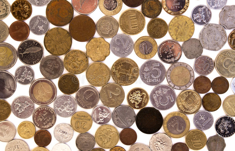 Coins. Economics hours watch old minutes timepiece capital bank deposit coin money retro commerce payment clock pocket counting currency income change cents stock image