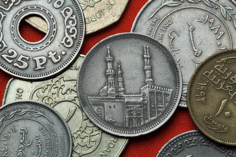 Coins of Egypt royalty free stock photography
