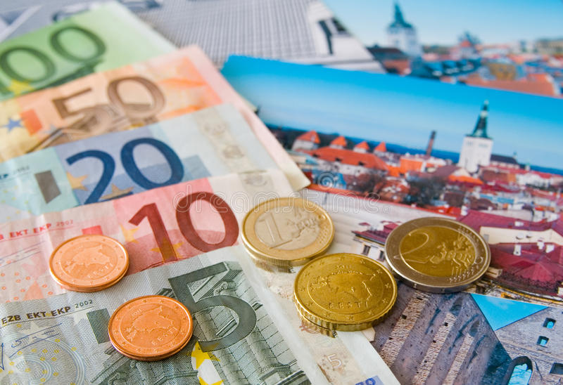 Coins of Estonia royalty free stock photo