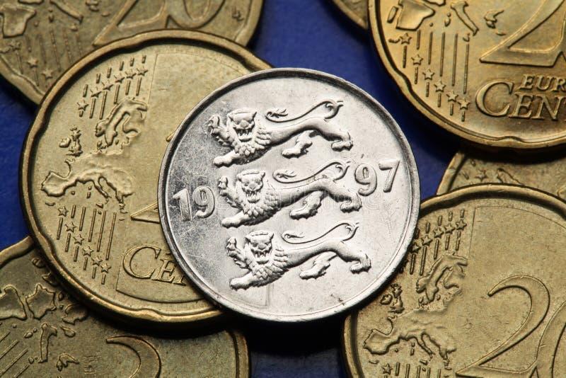 coins estonia royaltyfria foton