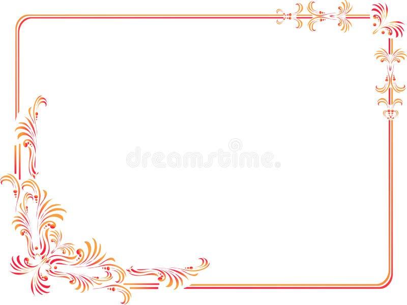 coins et cadre décoratifs d'isolement illustration stock