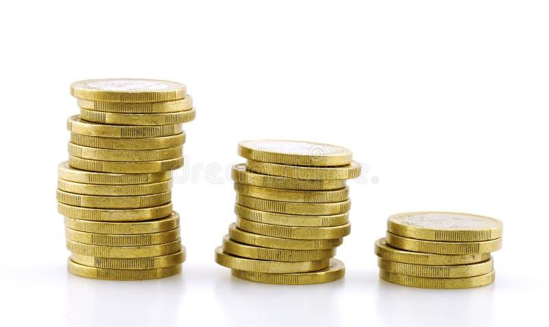 coins euro fotografering för bildbyråer